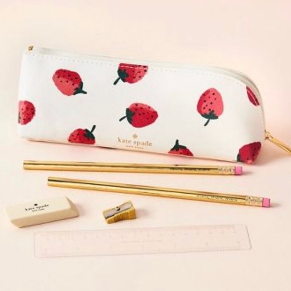 new product 5bb27 69087 NWT Kate Spade Strawberry Pencil Case NWT